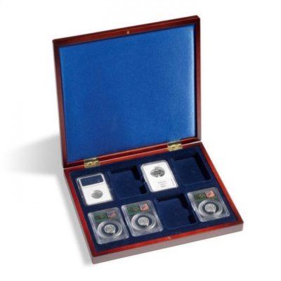 Coin Slab Box Wood for 8 Slabs NGC/PCGS