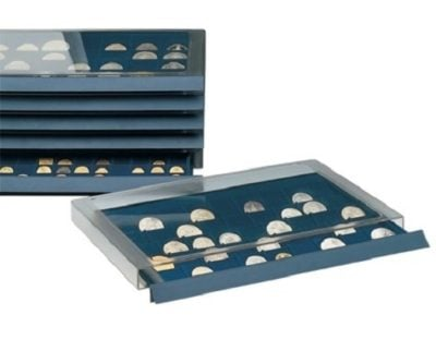 Coin Collection Storage Drawer w/12 Compartments For Medals to 75mm