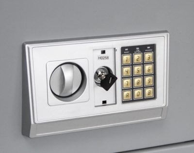 Steel Safe - Large with Numeric Key Pad and Key