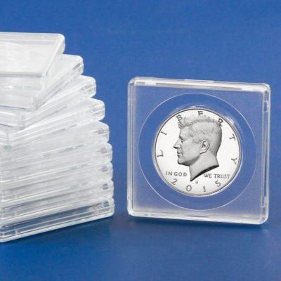 "2"" x 2"" SnapLock Air Tight Coin Capsules - 27.5mm"