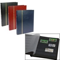 Stamp Collecting Albums - Tablet Size Stockbook - 16 Black Pages