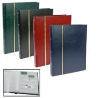 Stamp Albums Stock Books with 64 White Pages