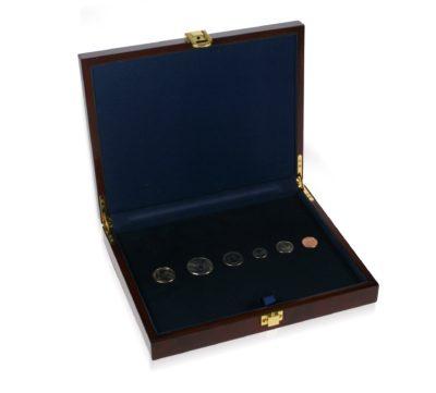 Premium Wooden Coin Memory Case