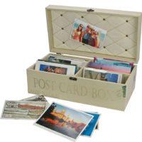 Retro Wood Postcard Box