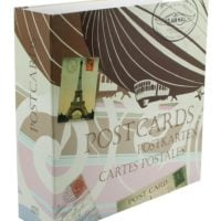 Postcard Album Maxi Retro with 50 Transparent Pages for 300 Postcards